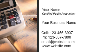 [Image: Tax Preparer Accountant Business Card]