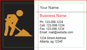 [Image: Contractor Business Cards]