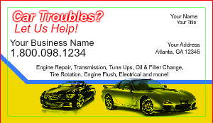 [Image: checkout with Auto Shop Business Card]