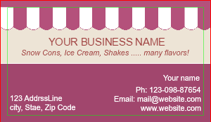 [Image: Shaved Ice Business Card Template ]
