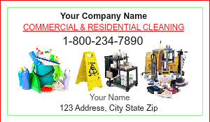 Cleaning Service Business Cards | DesignsnPrint