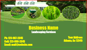 [Image: Green landscaping Business card]