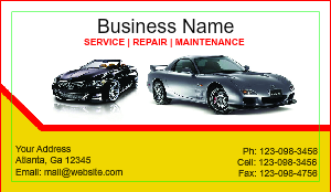 Auto repair business card templates designsnprint automotive business card fbccfo Choice Image