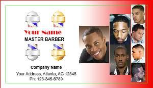 [Image: checkout with Barber Shop Business Card]