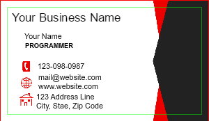 [Image: Software Engineer Business Card]
