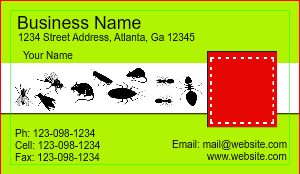 [Image: checkout with Pest Pontrol Business Card Design]