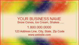 [Image: Shaved Ice Business Card Design]