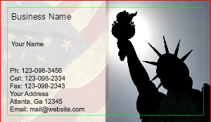 [Image: checkout with Lady Liberty l Business card]