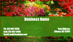 Landscaping business cards designsnprint lawn services business card template flashek