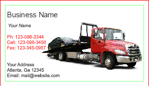 [Image: Tow Truck Business Cards]