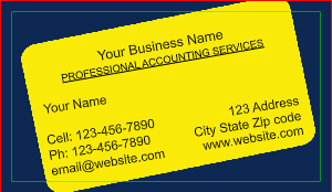 [Image: Tax Accountant Business Card]