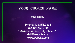 christian business cards purple - Christian Business Cards