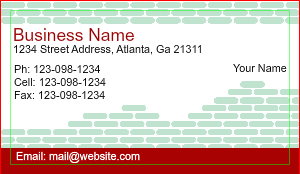 independent contractor business cards - Contractor Business Cards