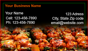 [Image: Modern Restaurant Business Card]