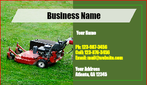 Landscaping business cards designsnprint landscaping business card template accmission Images