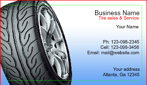 Tire shop business card designs designsnprint tire shop business card design colourmoves