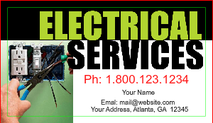 electrician business cards - Electrician Business Cards