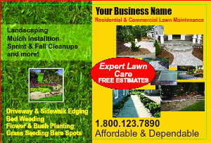 [Image: Lawn Care Flyers - Landscaping Postcards]