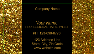 [Image: checkout with Hair Salon Gold Glitter Business Card]