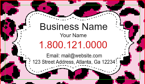 [Image: Cheetah Print Business Cards]