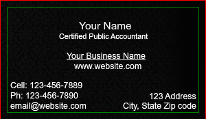 [Image: CPA Certified Public Accountant Business Card]