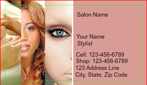[Image: checkout with Beauty Salon Business Card]