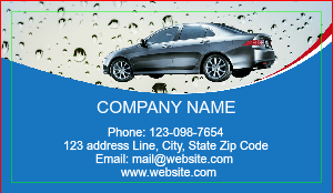 auto detailing car wash business card - Car Wash Business Cards