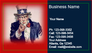 [Image: Uncle Sam Business card]
