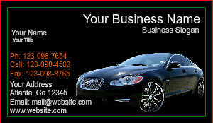 [Image: Car Salesman Business Card]