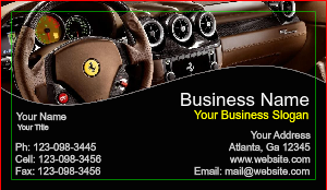 [Image: Auto Dealership Business Card]