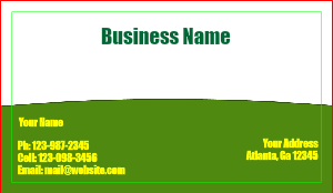[Image: Lawn Business Card Template]