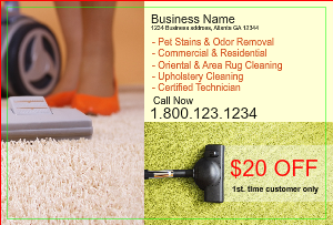 [Image: checkout with Carpet & Furniture Cleaning Postcard Marketing]