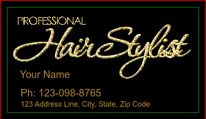 [Image: checkout with Beauty Salon Gold Glitter Business Card]
