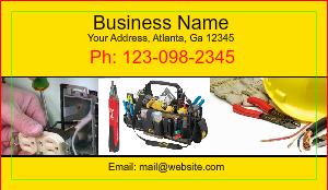 [Image: Electrical Services Business Card]