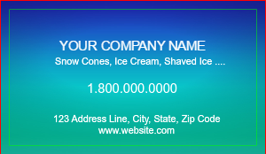 [Image: Snow Cone Business Card Template ]
