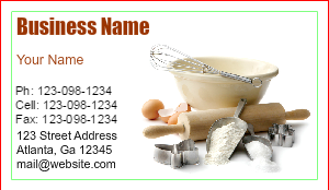 [Image: Baking Business Cards]