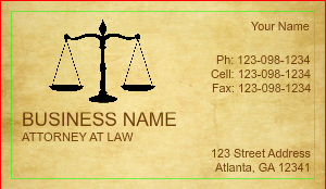 Legal business cards designsnprint image checkout with attorney business card design online reheart Gallery