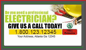 electrical business card design - Electrician Business Cards