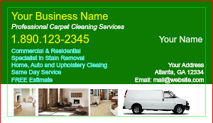 Carpet Cleaning Business Cards | DesignsnPrint
