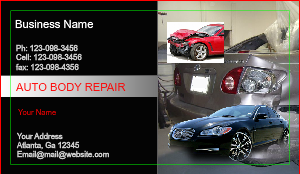 [Image: Auto Body & Collision Business Cards]