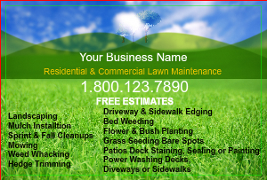 [Image: checkout with Landscaping Flyer Design Online]