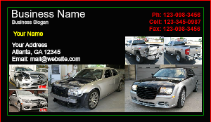 [Image: Automotive Body Repair Business Card Template]