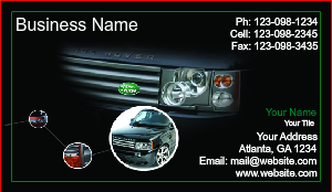[Image: Auto Dealer Business Card Template]