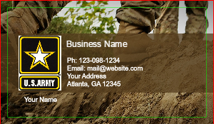 Military and patriotic business cards designsnprint usa military business cards reheart Gallery