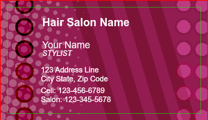 [Image: Hair Stylist Business Card]
