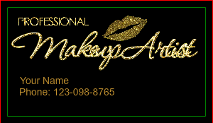 [Image: Glitter Glamour Hair Salon Business Cards]