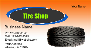 Tire shop business card designs designsnprint image checkout with tire shop business card colourmoves