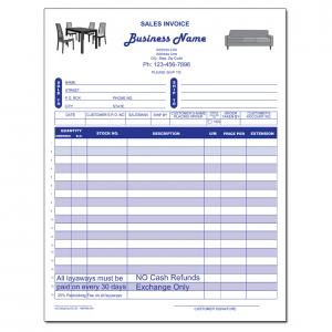 [Image: Furniture Invoice - Receipts - Retail Stores]