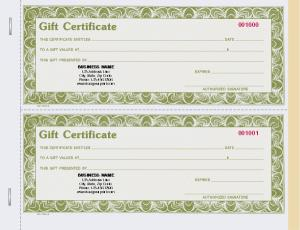 [Image: Gift Certificate Personalized]