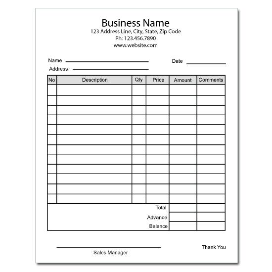 [Image: Bakery Forms: Invoices, Receipts]
